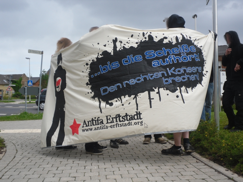 Antifa-Protest in Erftstadt-Herrig